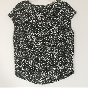Ann Taylor black printed Top